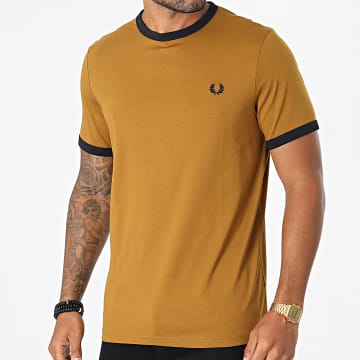 Fred Perry - Tee Shirt Ringer M3519 Camel