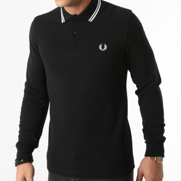 Fred Perry - Polo Manches Longues M3636 Noir