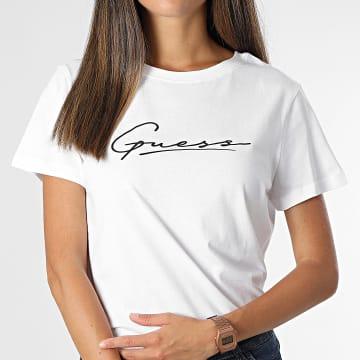Guess - Tee Shirt Femme O1BA08 blanc