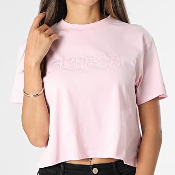 Guess - Tee Shirt Femme Crop O1GA06 Rose