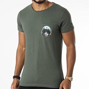 Le Temps Des Cerises - Tee Shirt Poche Hodel Vert Kaki