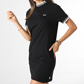 Vans - Robe Tee Shirt Femme Wild Hi Roller Noir Léopard
