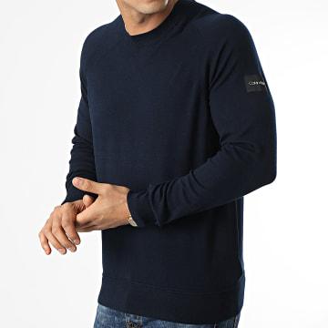 Calvin Klein - Pull Lycra Free 7457 Bleu Marine