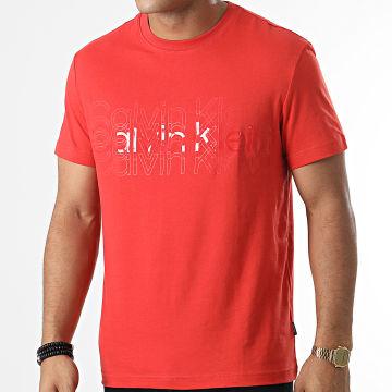 Calvin Klein - Tee Shirt Multi Logo 7606 Orange