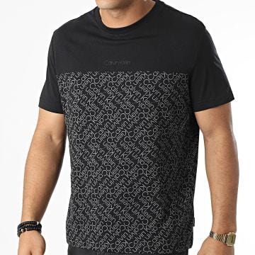 Calvin Klein - Tee Shirt Allover Logo Print Block 8313 Noir
