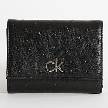 Calvin Klein - Portefeuille Femme Re-Lock 8606 Noir