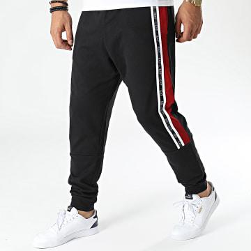 EA7 Emporio Armani - Pantalon Jogging A Bandes 6KPP65-PJ05Z Noir Rouge