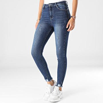 Girls Outfit - Jean Skinny Femme B1009 Bleu Denim