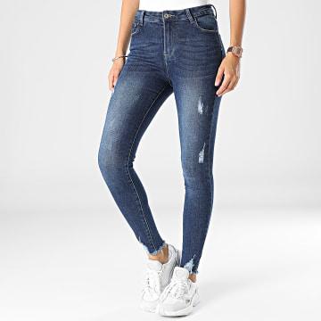 Girls Outfit - Jean Skinny Femme B1023 Bleu Denim
