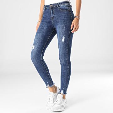 Girls Outfit - Jean Skinny Femme B1139 Bleu Denim