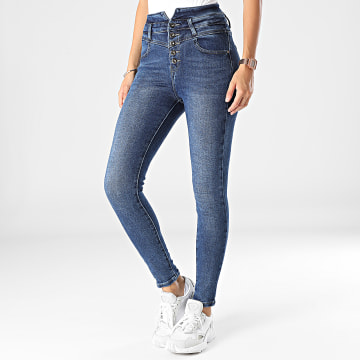 Girls Outfit - Jean Skinny Femme B1099 Bleu Denim