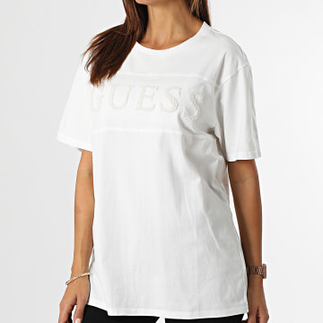 Guess - Tee Shirt Femme M1BI14 Blanc