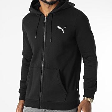 Puma - Sweat Zippé Capuche Essential Small Logo 586702 Noir