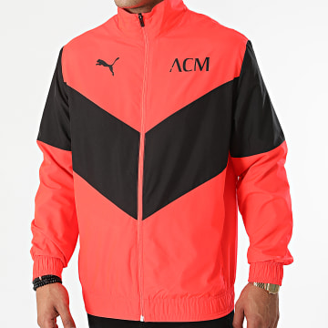 Puma - Veste Zippée AC Milan Prematch 764445 Orange Fluo Noir