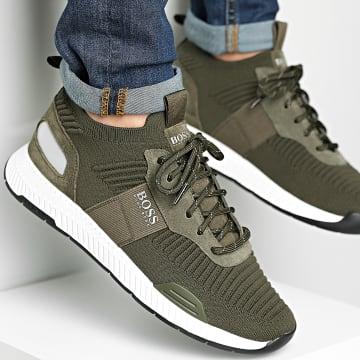 BOSS - Baskets Titanium Runner 50452034 Dark Green