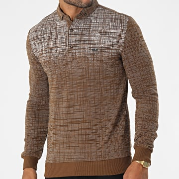 Classic Series - Polo Manches Longues 21K2037 Marron
