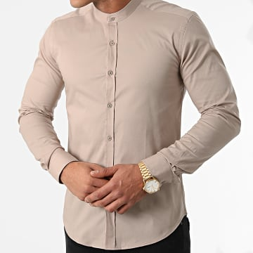 LBO - Chemise Manches Longues Slim Fit 1996 Beige