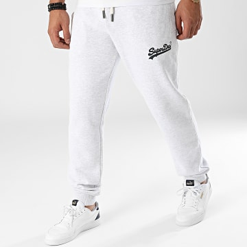 Superdry - Pantalon Jogging Vintage Logo Rag M7010730A Gris Chiné