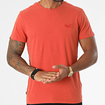 Superdry - Tee Shirt Vintage Logo Embroidery M1011245A Orange Chiné