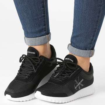 Calvin Klein - Baskets Femme Runner Lace Up 0466 Black