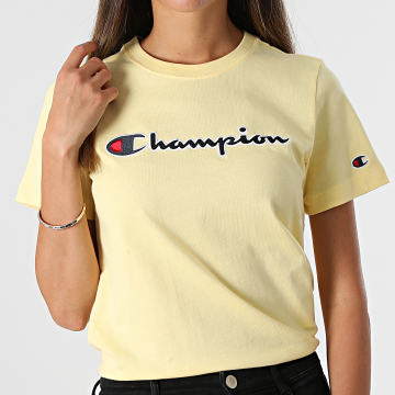 Champion - Tee Shirt Femme 114472 Jaune
