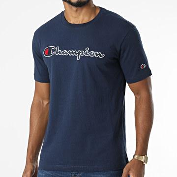 Champion - Tee Shirt 216473 Bleu Marine