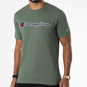 Champion - Tee Shirt 216473 Vert Kaki