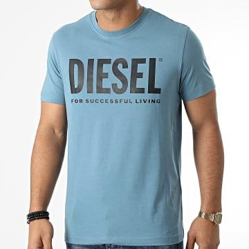 Diesel - Tee Shirt Diegos Ecologo A02877-0AAXJ Bleu Clair