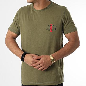 Diesel - Tee Shirt A00628-0LAYY Vert Kaki
