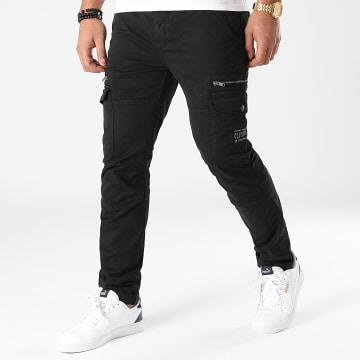 Deeluxe - Pantalon Cargo Danakil Noir