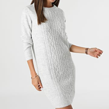 Deeluxe - Robe Pull Femme Andressa Gris Chiné