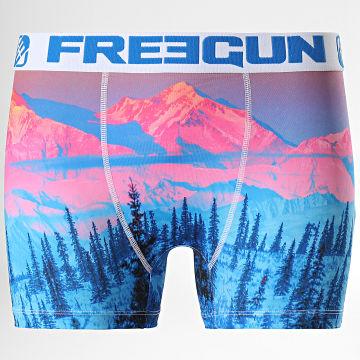 Freegun - Boxer Coton Mountain Bleu Rose