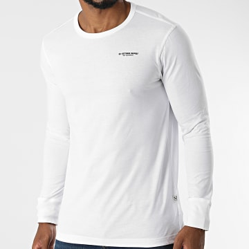 G-Star - Tee Shirt Manches Longues Base D20448-336 Blanc