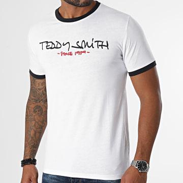 Teddy Smith - Tee Shirt Ringer Blanc