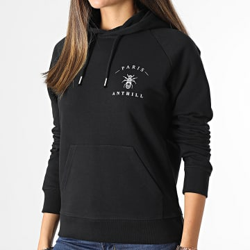 Anthill - Sweat Capuche Femme Chest Logo Noir Blanc