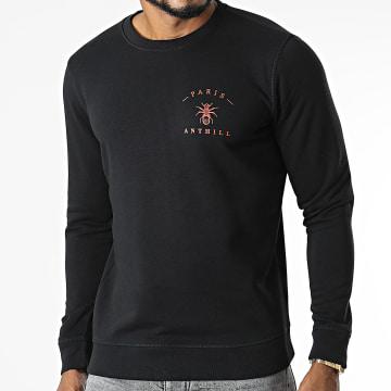 Anthill - Sweat Crewneck Chest Logo Noir Rouge
