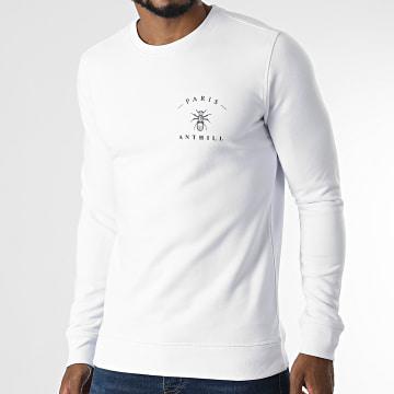 Anthill - Sweat Crewneck Chest Logo Blanc Noir