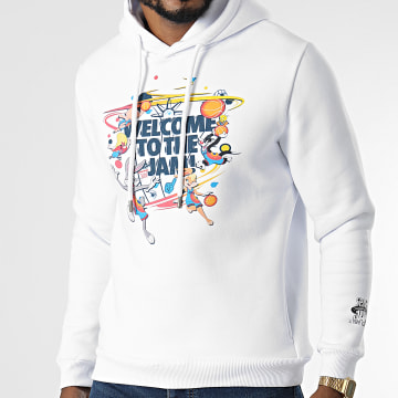 Looney Tunes - Sweat Capuche Space Jam Welcome Blanc