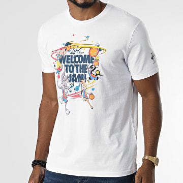 Looney Tunes - Tee Shirt Space Jam Welcome Blanc