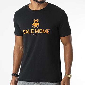Sale Môme Paris - Tee Shirt Nounours Recto Noir Orange