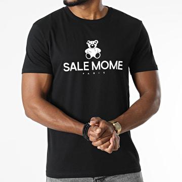 Sale Môme Paris - Tee Shirt Nounours Recto Noir Blanc