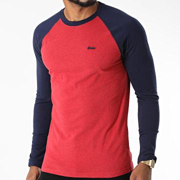 Superdry - Tee Shirt Manches Longues M6010549A Rouge Bleu Marine