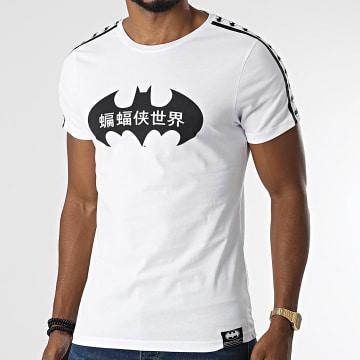 DC Comics - Tee Shirt A Bandes Jap Blanc