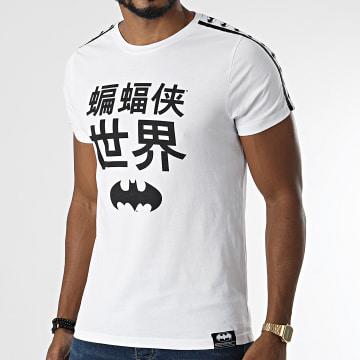 DC Comics - Tee Shirt A Bandes Kanjis Blanc