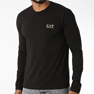 EA7 Emporio Armani - Tee Shirt Manches Longues 8NPT55-PJM5Z Noir Doré