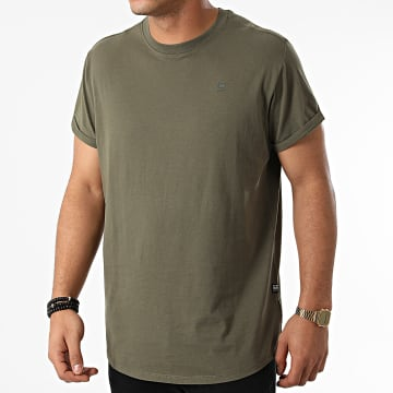 G-Star - Tee Shirt Oversize Compact Jersey D16396-B353 Vert Kaki