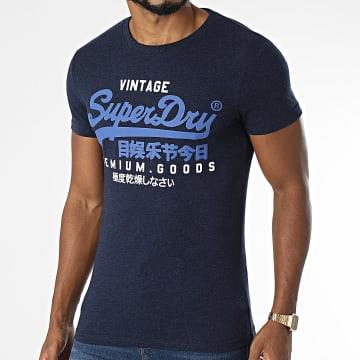 Superdry - Tee Shirt M1011356A Bleu Marine Chiné