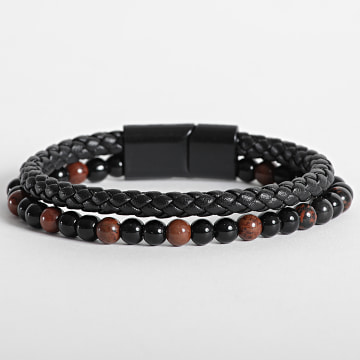 California Jewels - Bracelet AE098 Noir Rouge