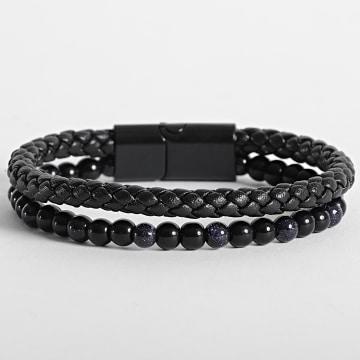 California Jewels - Bracelet AE099 Noir Bleu