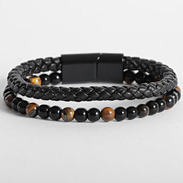 California Jewels - Bracelet AE100 Noir Jaune